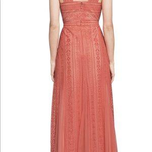 858787983ad3 BCBGMaxAzria Dresses - BCBGMAXAZRIA Aloysha Lace halter gown Spiced Coral